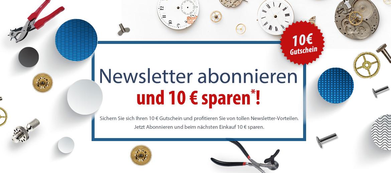 Newsletter abonnieren und 10EUR sparen