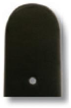 Lederband Merano 12mm schwarz glatt