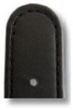 Bracelet-montre en cuir Louisville 18mm noir lisse