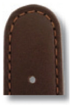 Lederband Louisville 16mm mokka glatt