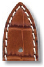 Lederband Tupelo 16mm cognac mit Alligatorprägung