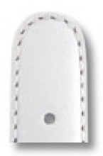 Lederband Phoenix 10mm weiß glatt XL