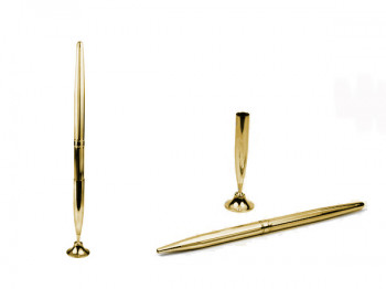 Pen Cavity in gold with screw and parts