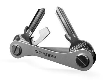 Keykeepa Edelstahl für bis zu 12 Schlüssel, silber