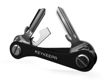 Keykeepa Aluminium für bis zu 12 Schlüssel, schwarz