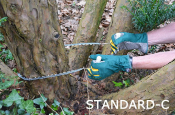 Chainsaw extra hardened, extra chromed, extra long chain 130cm!