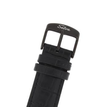 SELVA Herren-Armbanduhr »Ivo« - schwarz