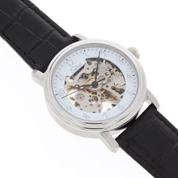 SELVA Montre-bracelet d'homme »Lyan« - Soleil/lune - squeletté - argenté-blanc