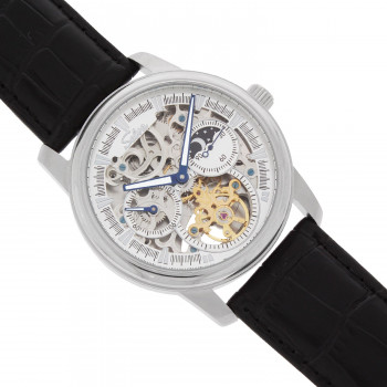 SELVA Men's Watch »Ramon« -sun/moon - skeletonized - silver