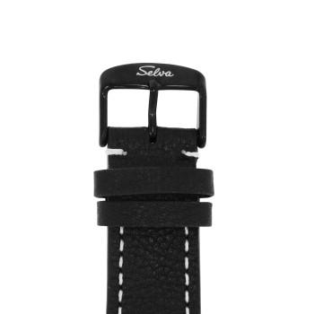 SELVA Herren-Armbanduhr »Vito« - Big Date - schwarz