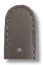 Leather strap Phoenix 18mm gray smooth XL