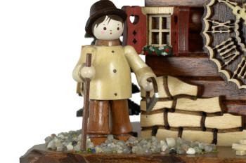 Kuckucksuhr Dankerode mit Figuren aus dem Erzgebirge