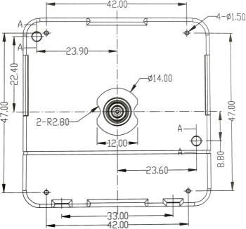 Quarzuhrwerk-Set LP inkl. Zeiger, schleichende Sekunde, ZWL 11mm - speziell für Schallplatten-Uhren