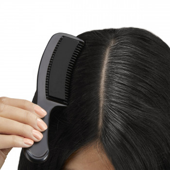 Black color comb - instantly covers gray hair