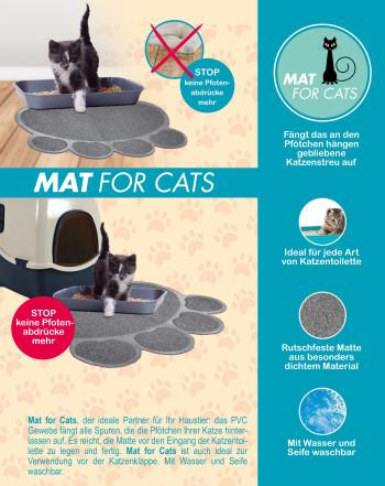 Mat for cats - Katzenmatte rutschfest