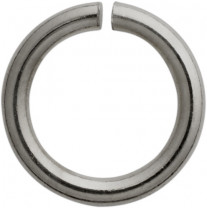 Jump ring round stainless steel / white Ø 5.00 mm, thickness 1.00 mm
