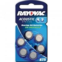 Rayovac 675 Hörgeräteknopfzelle