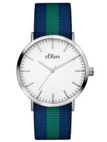s.Oliver Textilband blau, grün SO-3105-LQ
