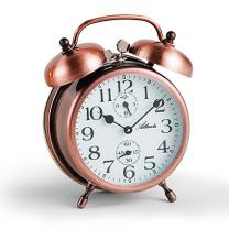 Atlanta 1058/18 cuivre Réveil avec double cloche mécanique
