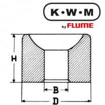 KWM-press-fit bearings brass L13, hole Ø 0.90 outside Ø 1.80 height 1.40 mm, capacity 20.00 Unit