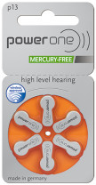 Power One 13 Hearing Aid Coin Cell