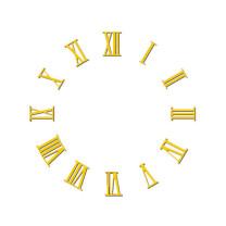 Zahlensatz römische Zahlen Messing gebürstet L=25
