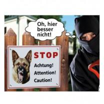 Warnschild Hund