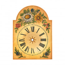 Clock Shield With 'Thistle' motif 250x345mm