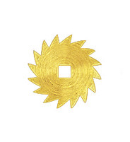 Ratchet wheel brass exterior Ø: 19 square opening: 3.0x3.0mm