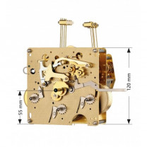 Regulator movement Hermle 351-051, 8 days, pendulum 48 cm, stroke on gong