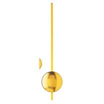 Quartz clock pendulum yellow l: 235mm lenses Ø: 50mm