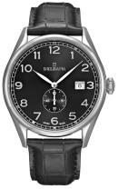 DELBANA HAU leather/dial black - Swiss Made
