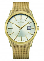 DELBANA HAU stainless steel/IP gold plated with Milanese band - Swiss made
