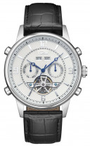 SELVA Automatic watch with open heart, silver/ white