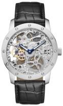 SELVA Herren-Armbanduhr Handaufzug, voll skelettiert, versilbert