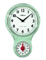 Atlanta 6124/6 Atlanta kitchen clock nostalgia green with timer