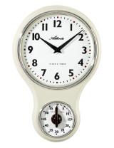 Atlanta 6124/6 Atlanta kitchen clock nostalgia white with timer