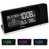 TECHNOLINE Funk-Projektionswecker mit Außentemperatur-Sensor