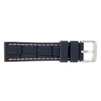 Bracelet-montre silicone/ caoutchouc 22mm, couture blanche