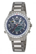 Radio controlled solar drive Explorer, Ø 46mm, blue dial