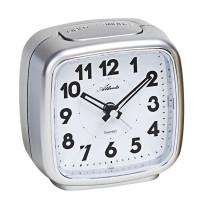 Atlanta 1978/19 silver quartz alarm clock sweeping second