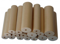 PLAYMAT Turning wood lime17pcs. 20mm, 7pcs 30mm
