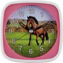 Réveil à quartz pour enfants, avec cheval, seconde rampante