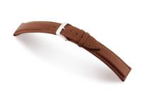 Bracelet-montre en cuir Corona 20mm acajou