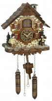 Cuckoo clock Dankerode with figures from the Ore Mountains