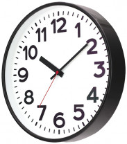 SELVA Quartz wall clock Kolbingen, black