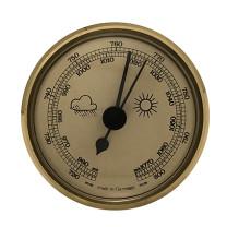 Baromètre instrument météo pour monter Ø 65mm, doré