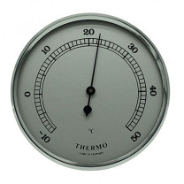 Thermometer Einbau-Wetterinstrument Ø 65mm, silber