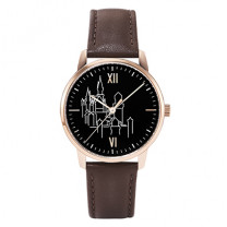 Königsschloss Edition Armbanduhr, rosé/ schwarz - Exklusiv