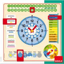 GOULA Time, week and calendar teaching clock